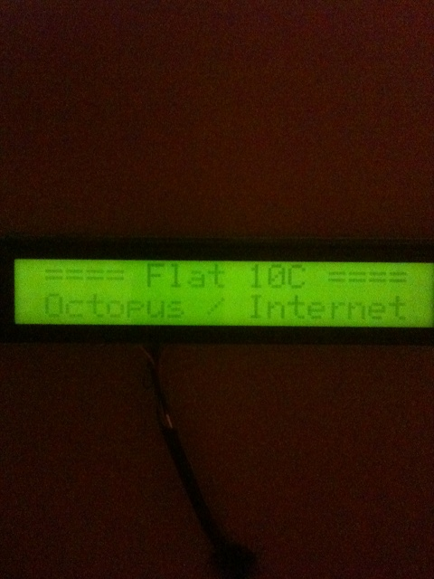 Default LCD message